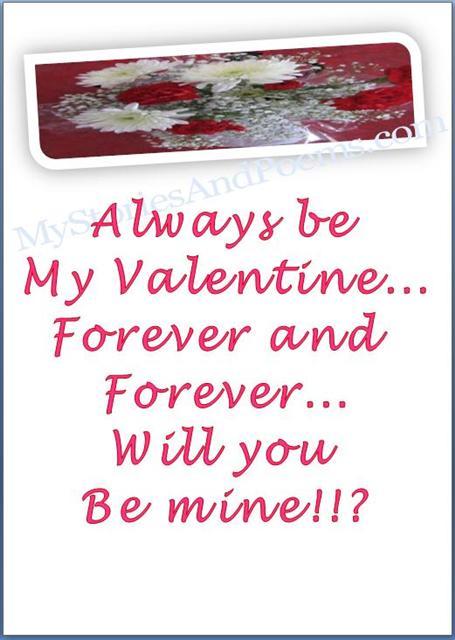 Forever Be Mine Valentine Card Closeup