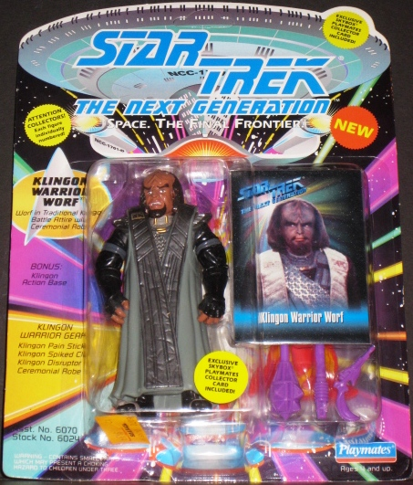 Star Trek the Next Generation Space the Final Frontier Klingon Warrior Worf Figure