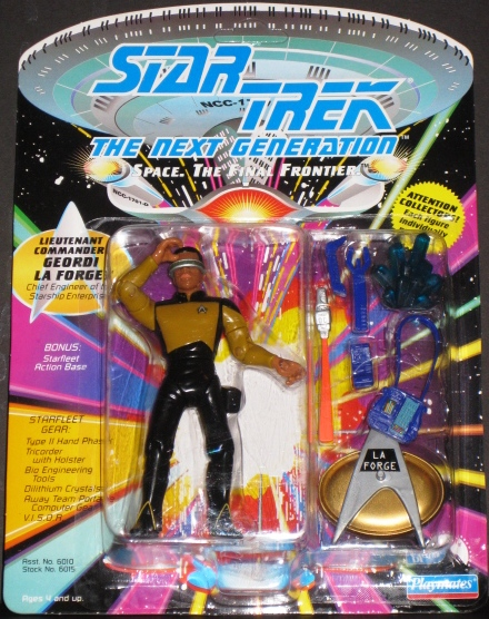 Star Trek the Next Generation Lieutenant Commander Giordi La Forge Plain Clothes Action Figure